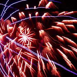 Encase by Savannah Eubanks - Abstract Fire & Fireworks ( firework, colors, night )