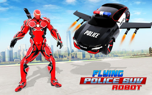 Flying Police SUV Robot Car Driving: Robot Games ss2