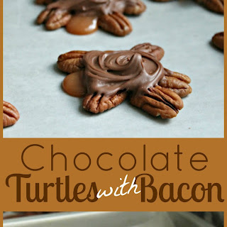 Chocolate-Covered Turtles with Bacon