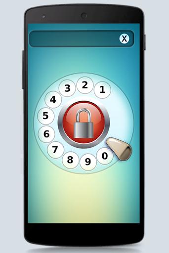 古い携帯電話の画面のロック