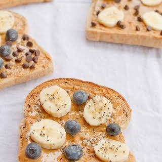 Peanut Butter Breakfast Toast 4 Ways.