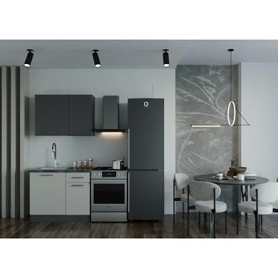 Кухонный гарнитур Прима 1032х600 Антрацит/ Детройт/ Антрацит,Сатин
