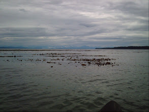 Photo: Looking across Queen Charlotte Strait toward the BC mainland.