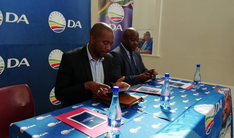 5 September 2015 - DA national leader Mmusi Maimane and DA provincial leader Nqaba Bhanga