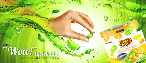 Photo: Jelly Belly Lime!  Mix of #3D  #CGI and #Photography