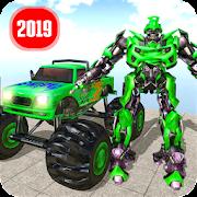 Real Robot Transform Monster Truck Fight