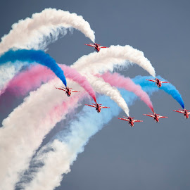 Weymouth Reds by Steve Wright - Transportation Airplanes ( weymouth, red arrows, d3, sigma, carnival, nikon, dorset )