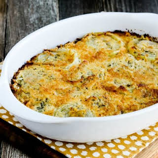 Onion Gratin with Rosemary and Thyme.