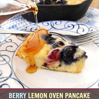 Berry Lemon Oven Pancake
