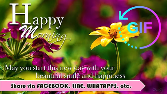 Good Morning Gif with the best Wishes Message - náhled