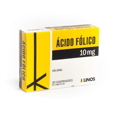 Acido Fólico Klinos 10 Mg X 30 Comprimidos Klinos