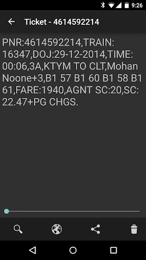 Railway Ticket Wallet screenshot 2