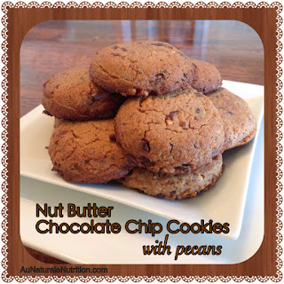 NutButter Chocolate Chip Cookies with Pecans