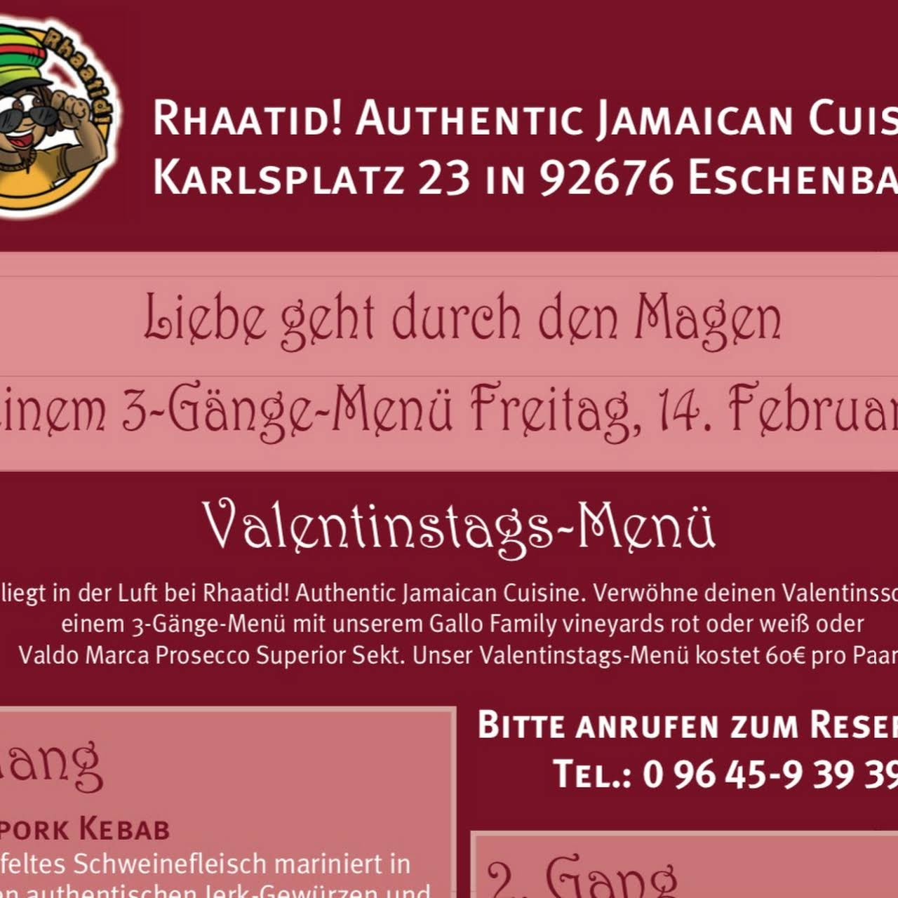 Valentinstag menu restaurant nurnberg