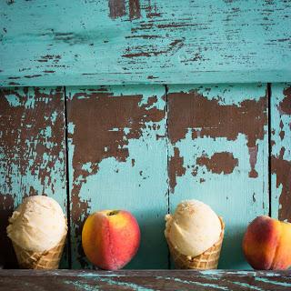 Buttermilk Peach Crumble Ice Cream
