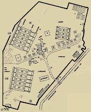 Photo: Denah Kamp Kampili. Tempat tahanan perempuan dan anak-anak umur 13 tahun kebawah. Lokasi: Kampung Kampili, Gowa, 15 km selatan Makassar. http://nurkasim49.blogspot.co.id/2011/12/iv.html