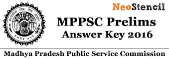 MPPSC Prelims Answer Key 2016 & MPPSC Prelims Cut Off