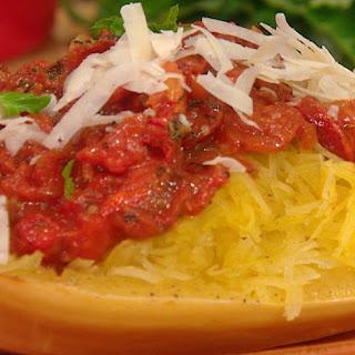 Spaghetti Squash with Roasted Tomatoes and Basil