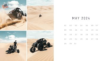 Desert Monthly - Calendar Template