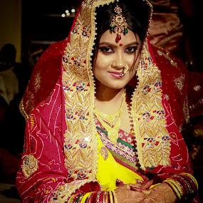 The Indian Bride by Akash Dubey - Wedding Bride ( indian shaadi, indian bride, indian wedding, dulhan )