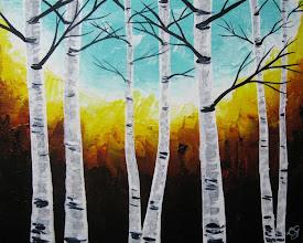 Photo: Small Birches - 8x10 Acrylic on Canvas Panel