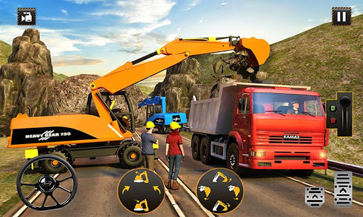 Hill Road Construction Games: Dumper Truck Driving apkpoly screenshots 2