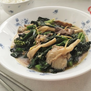 Stir Fried Kailan with Oyster Sauce.