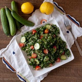 Kale Quinoa Tabbouleh Salad.
