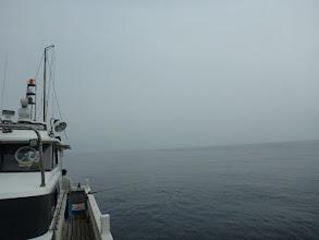 Photo: 水面は穏やかですが 今にも雨が降りそうな空模様。