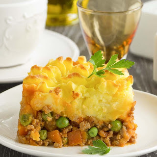 Rustic Cottage Pie With Mushroom Sauce
