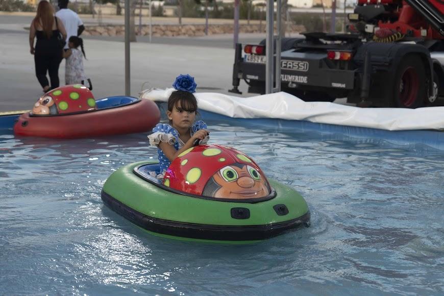 Martina Rodríguez Martínez se subió a los coches acuáticos