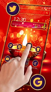 Happy Diwali Mobile Theme - náhled