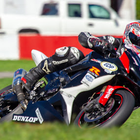 by Yves Sansoucy - Sports & Fitness Motorsports ( motor, motoe mike, grass, helmet, track, moto, speed, bike )