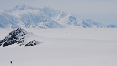 Photo: Seward Glacier behing and Mount Augusta in Background.