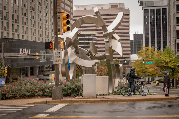 Cupid's Garden sculpture. Photo by Sam Kittner.