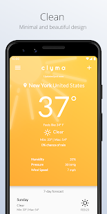 Download Clyma Weather: Simple, Multi-source and Accurate For PC Windows and Mac apk screenshot 1