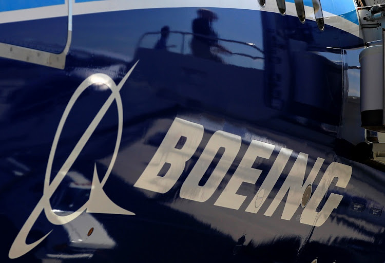 The Boeing logo is seen on a Boeing 787 Dreamliner airplane in Long Beach, California. Picture: REUTERS