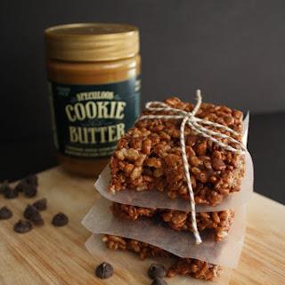 Chocolate Cookie Butter Rice Krispie Treats.