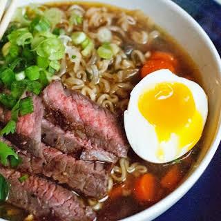 Beef Ramen Noodle Soup.