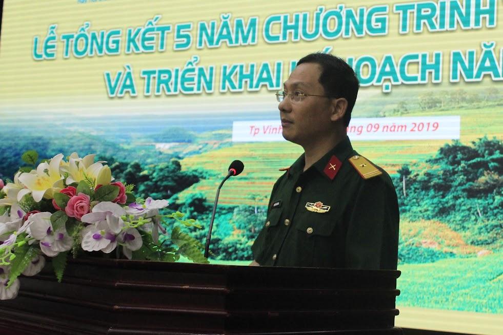 Thiếu tá Nguyễn Cảnh Hòa, Giám đốc chi nhánh Nghệ An Viettel đánh giá về kết quả triển khai thực hiện chương trình trong 5 năm qua và chỉ ra một số hạn chế, tồn tại để rút kinh nghiệm cho thời gian tiếp theo