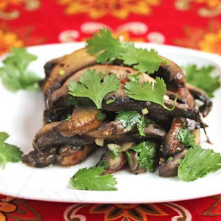 Marinated Portobella Mushroom Salad.