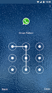 Blue Water Applock theme screenshot 2