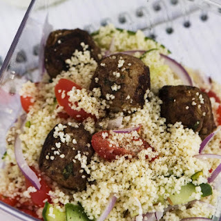Meatballs with Couscous Salad.