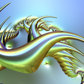 Dragon by Cassy 67 - Illustration Abstract & Patterns ( iridescent, fractal art, digital art, dragon, fractal, digital )
