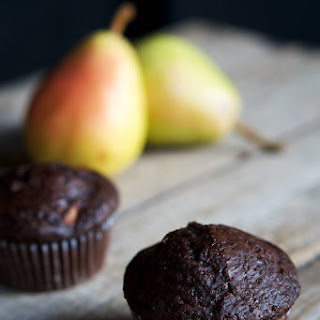 Juicy Chocolate Pear Muffins.