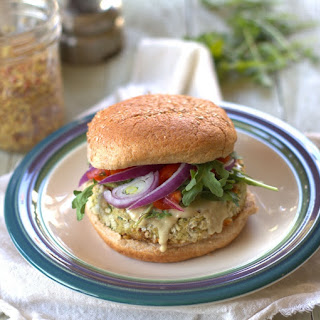 Roasted Garlic Artichoke Burger