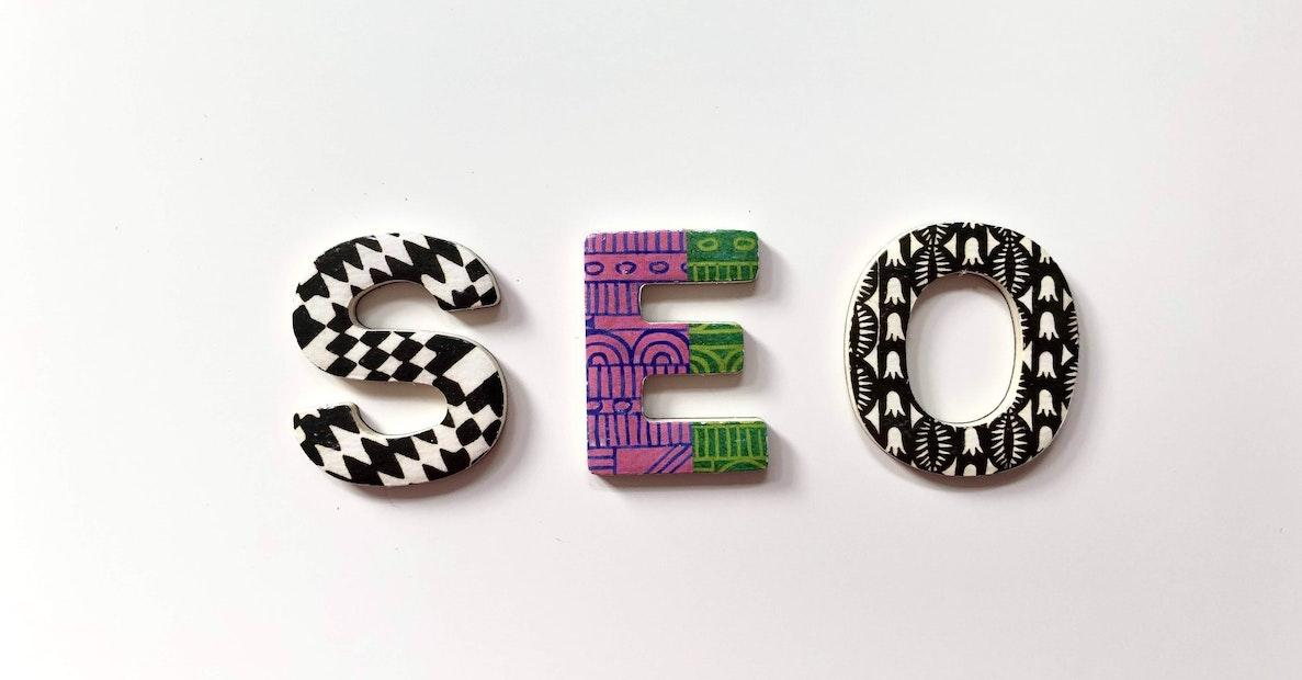 Blocks spelling out SEO