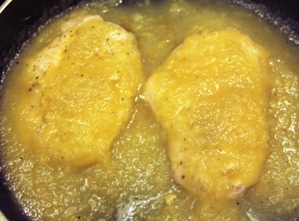 Return chops to the pan, and smother with the sauce. Cover, and cook gently on...