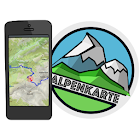ALLGÄU mountain range map icon