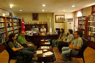 Photo: at Artuklu University Kurdish language and Culture Institute, with prof. Kadri Yıldırım, dr Abdurrahman Adak and Mikail Bülbül, Mardin, North Kurdistan (Turkey)